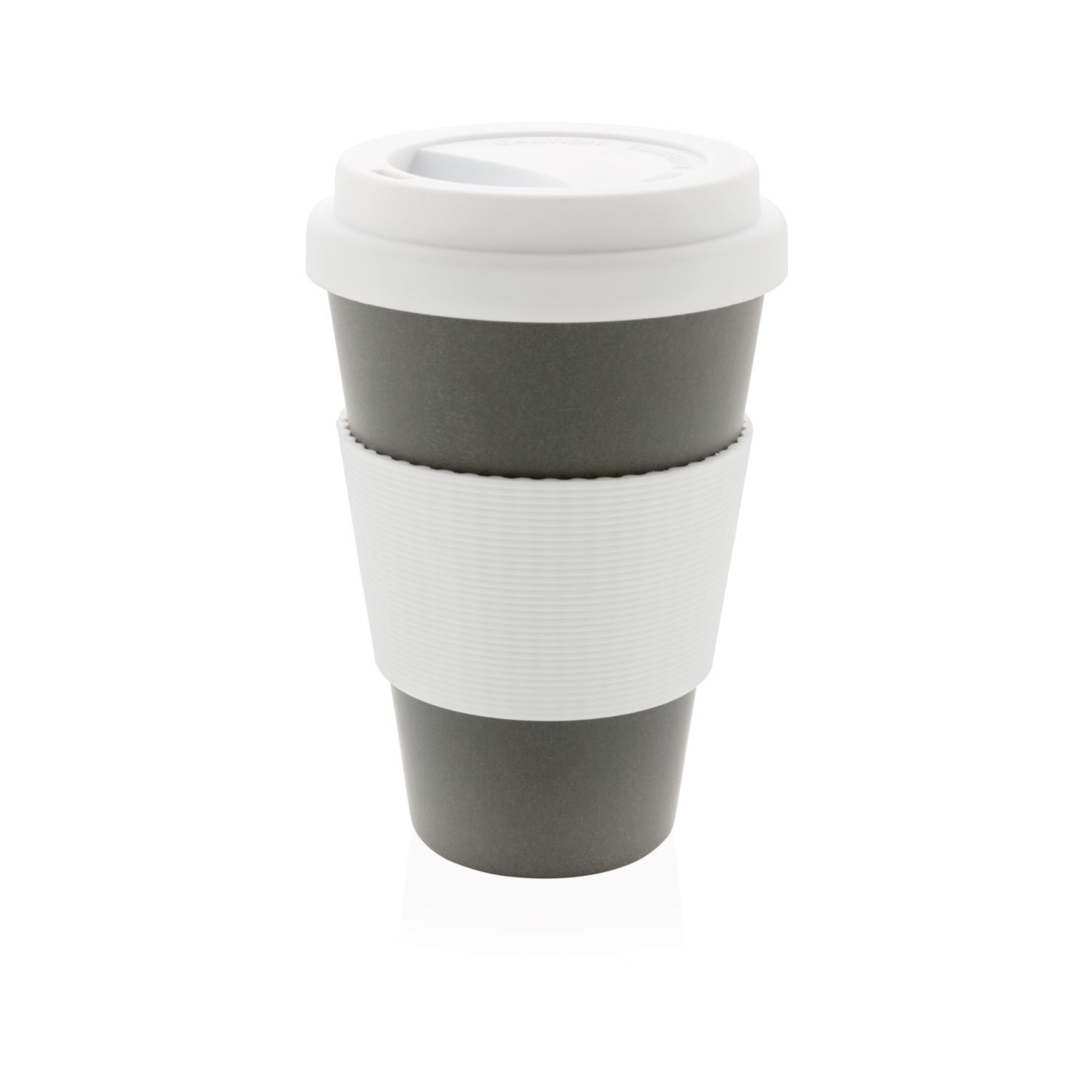 Grijse Koffiebeker to go | Bamboe | 430 ml