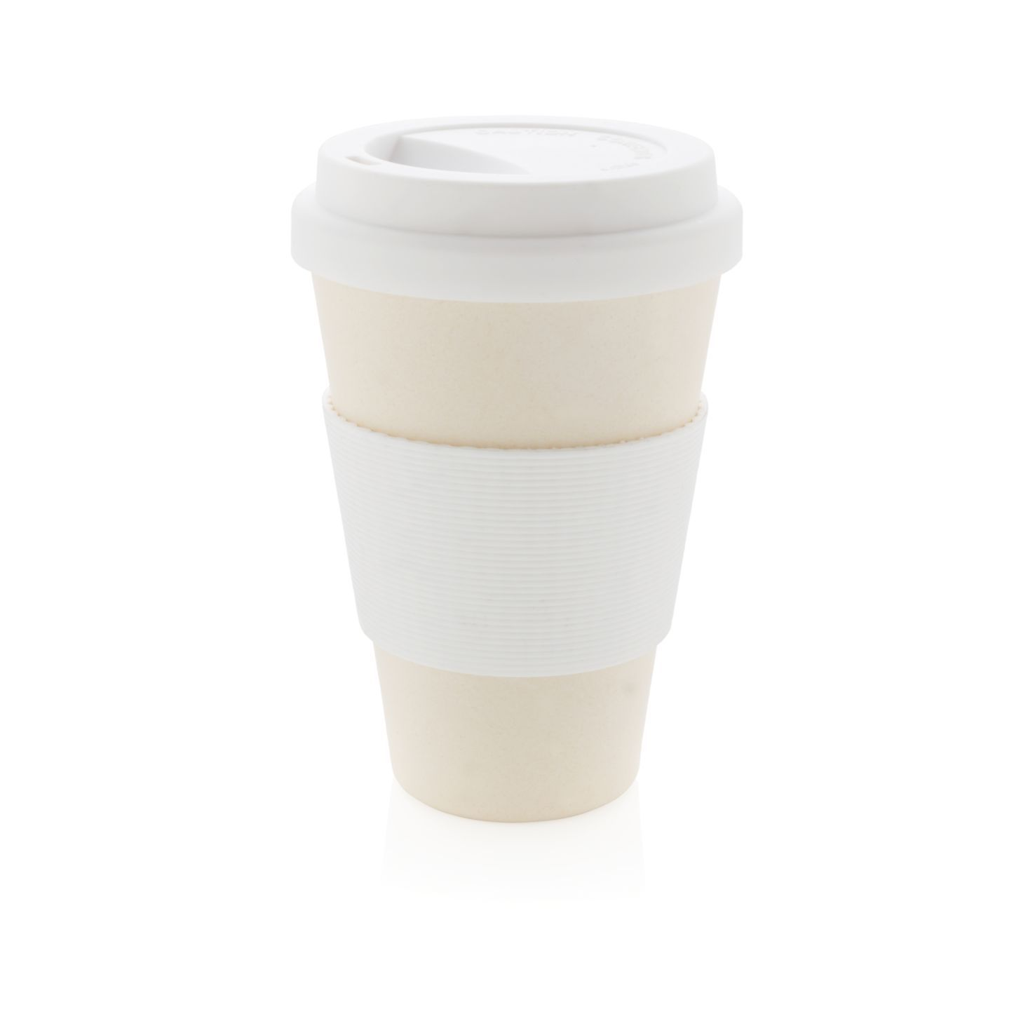 Witte Koffiebeker to go | Bamboe | 430 ml