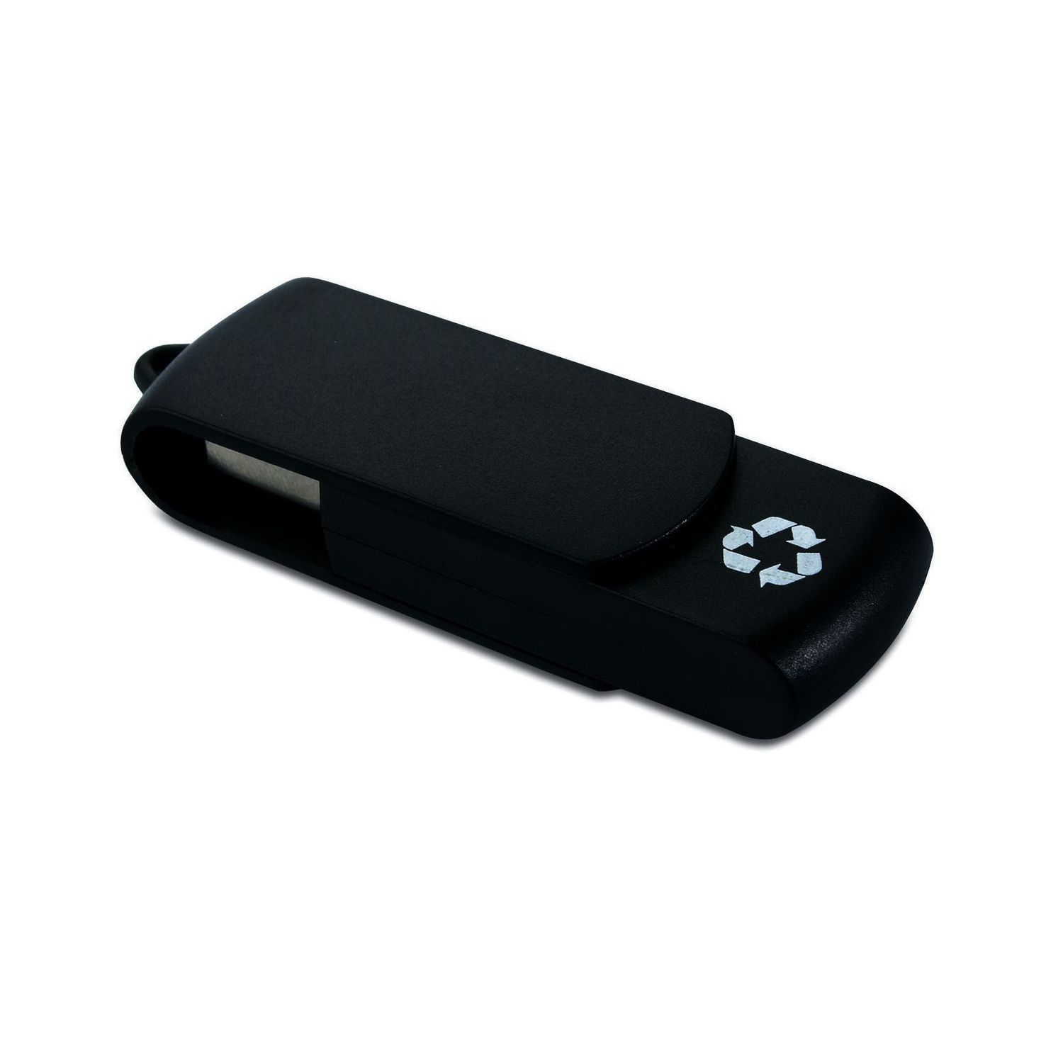 Zwarte USB stick gerecycled | 8GB