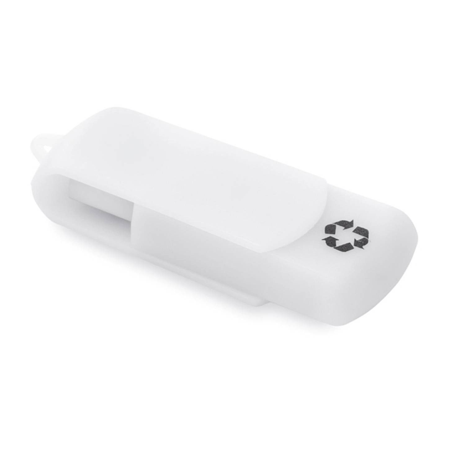 Witte USB stick gerecycled | 8GB