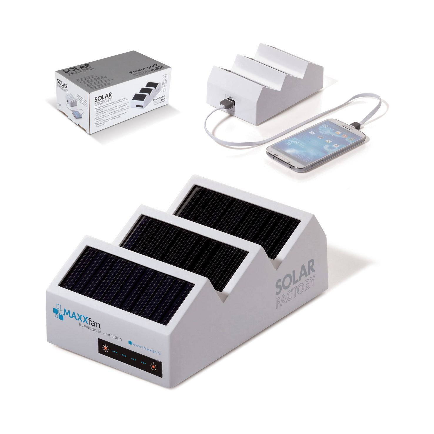 Solar powerbank fabriek 7800 mAh