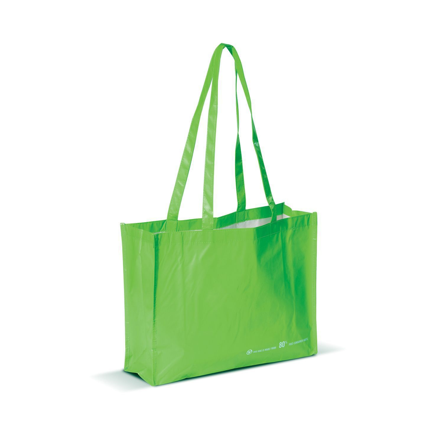 Lichtgroene Shopper | Gerecycled PET