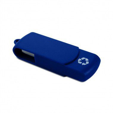 Blauwe USB stick gerecycled | 8GB