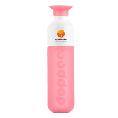 Roze Dopper met logo full color