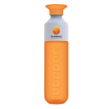 Oranje Dopper met logo full color