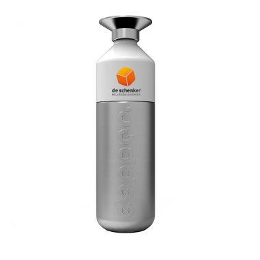 Zilvere Dopper Steel full color met logo | 800 ml